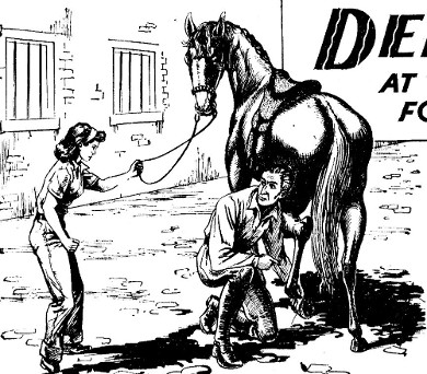 debbie at school of horses